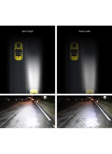 Techmaster Techmaster 180w 60 Led Off Road Projektör 71 CM 28 inÇ Gündüz Sis Farı Lambası Renkli